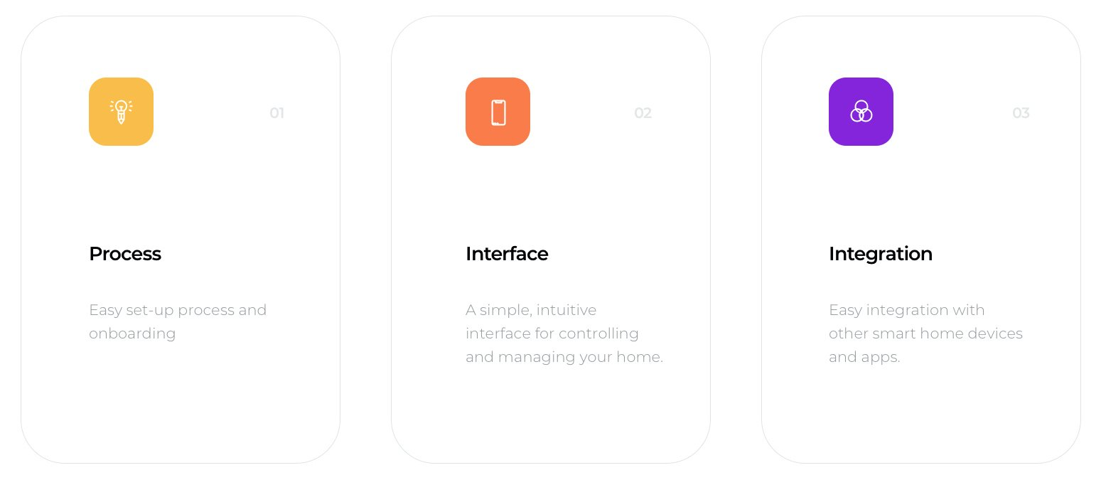 main focus points for designing the smart home app