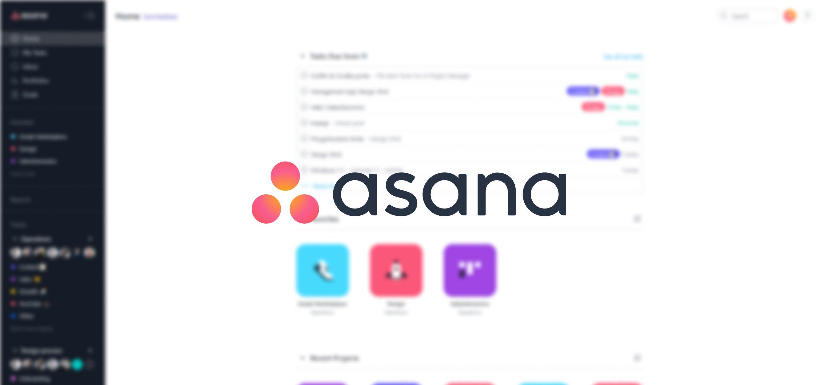 Top project management tools - Asana