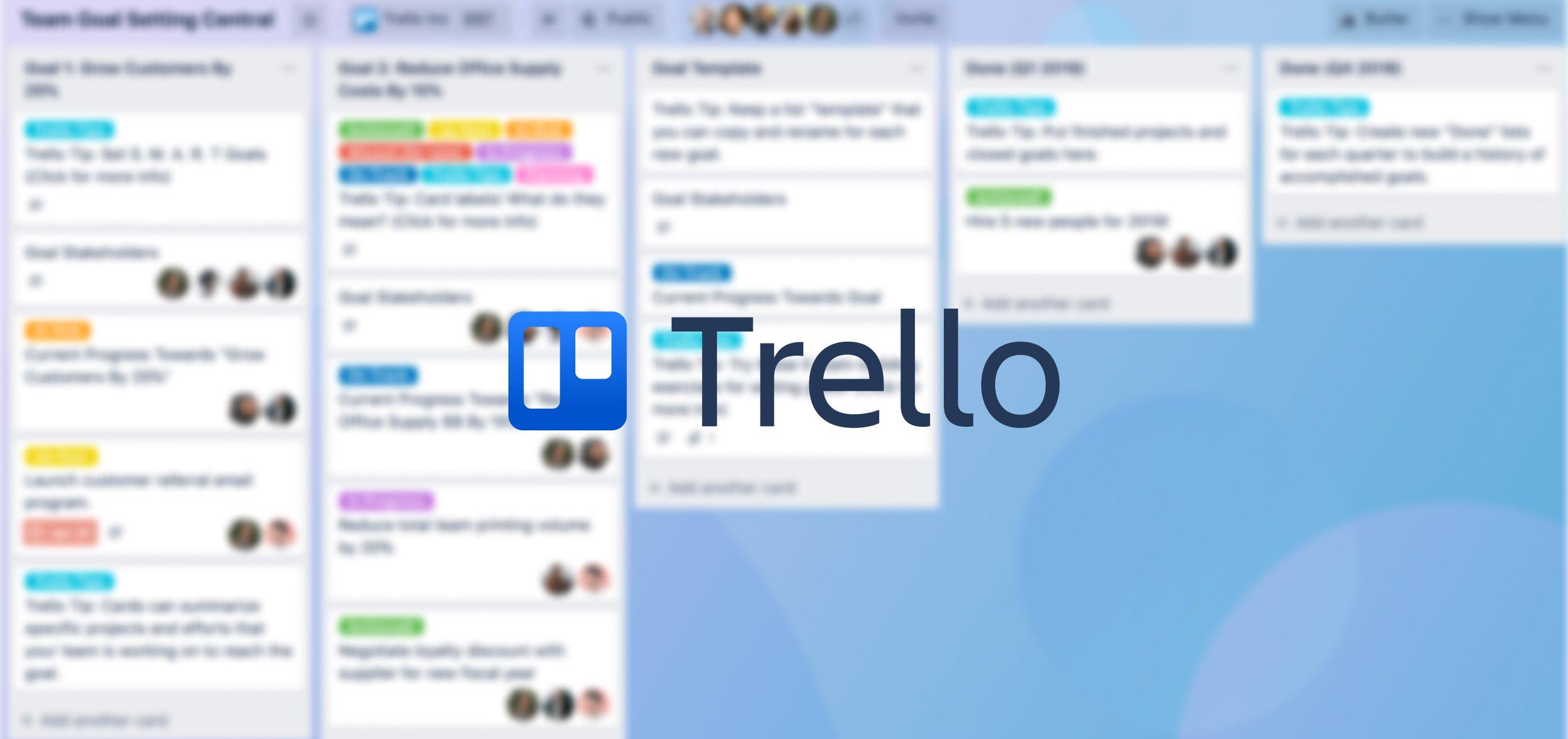 Top project management tools - Trello